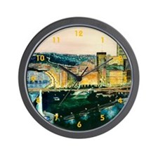Pittsburgh at Dusk Wall Clock