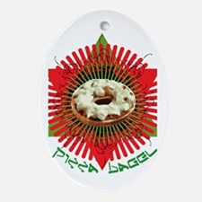 Pizza Bagel Oval Ornament
