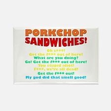 Porkchop Sandwiches! Rectangle Magnet