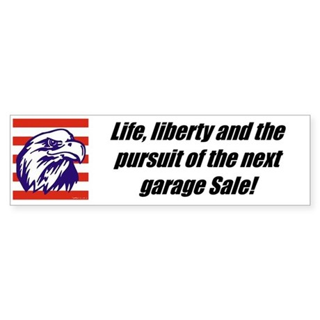 """Freedom To Garage Sale"" Bumper Sticker (50 pk)"
