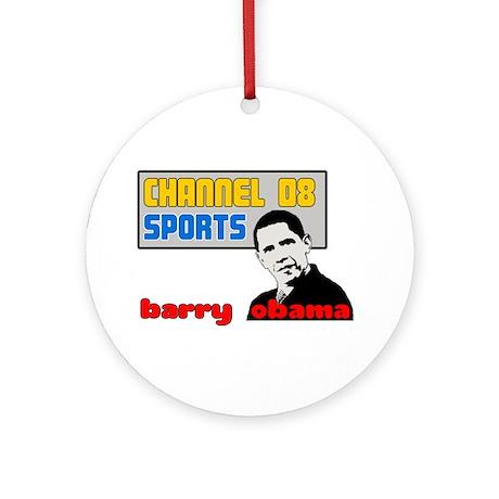 Obama Sports Ornament (Round)