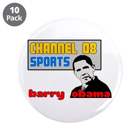 "Obama Sports 3.5"" Button (10 pack)"