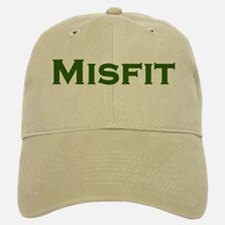 MISFIT anti clone (green text) Baseball Baseball Cap