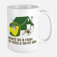 Worked on a farm, got muscle Large Mug