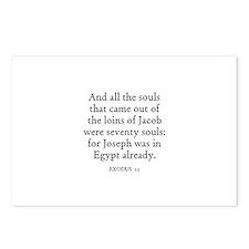 EXODUS  1:5 Postcards (Package of 8)