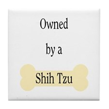 Owned by a Shih Tzu Tile Coaster