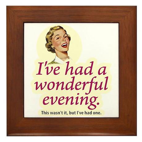 Wonderful Evening - Framed Tile