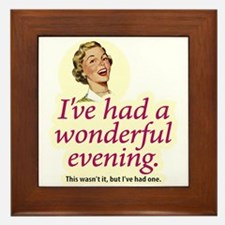 Wonderful Evening - Framed Tile