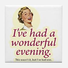 Wonderful Evening - Tile Coaster