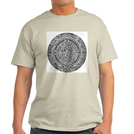 Aztec Sun Calendar Light T-Shirt