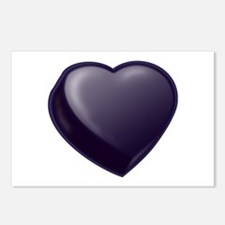 Dark Candy Heart Postcards (Package of 8)