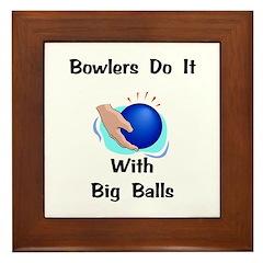 Bowlers Gift Framed Tile