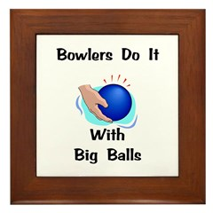 Bowlers Gift Framed Tile