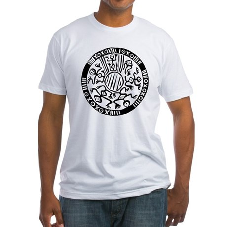 Tribal Circle Fitted T-Shirt