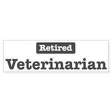 Retired Veterinarian Bumper Car Sticker