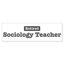Retired Sociology Teacher Bumper Bumper Sticker