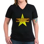 SUPERSTAR Women's V-Neck Dark T-Shirt