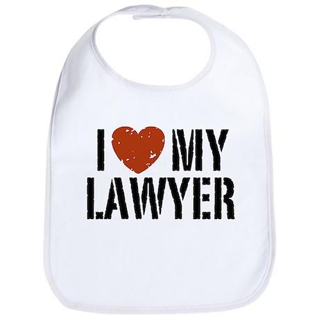 I Love My Lawyer Bib