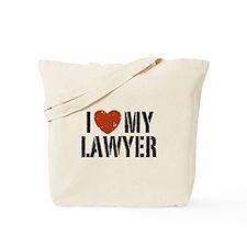 I Love My Lawyer Tote Bag