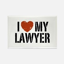 I Love My Lawyer Rectangle Magnet