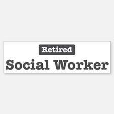 Retired Social Worker Bumper Car Car Sticker