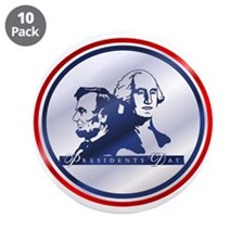 """President's Day 3.5"""" Button (10 pack)"""