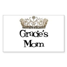 Gracie's Mom Rectangle Decal