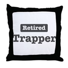 Retired Trapper Throw Pillow