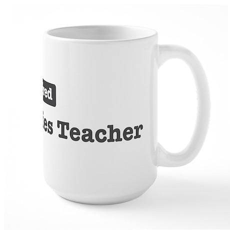 Retired Social Studies Teache Large Mug