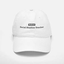 Retired Social Studies Teache Baseball Baseball Cap