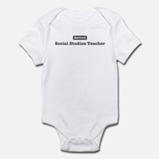 Retired Social Studies Teache Infant Bodysuit