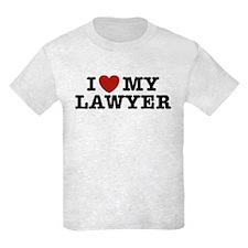 I Love My Lawyer T-Shirt