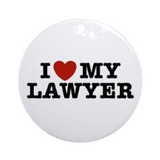 I Love My Lawyer Ornament (Round)