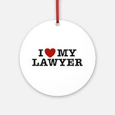 I Love My Lawyer Ornament (Round)