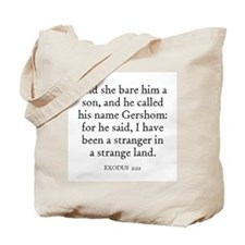 EXODUS  2:22 Tote Bag