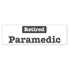 Retired Paramedic Bumper Car Sticker