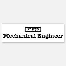 Retired Mechanical Engineer Bumper Bumper Bumper Sticker
