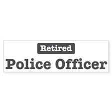Retired Police Officer Bumper Bumper Sticker