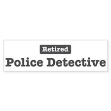 Retired Police Detective Bumper Bumper Sticker