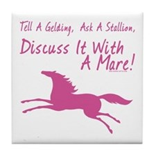 Discuss It With A Mare! Tile Coaster