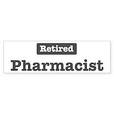 Retired Pharmacist Bumper Bumper Sticker