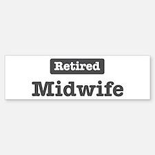 Retired Midwife Bumper Car Car Sticker