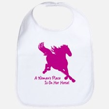 Woman's Place Is On Her Horse Bib