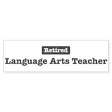 Retired Language Arts Teacher Bumper Bumper Sticker