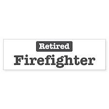 Retired Firefighter Bumper Car Sticker