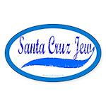 Santa Cruz Jew Uniform-Style Oval Sticker