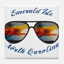 North Carolina - Emerald Isle Tile Coaster