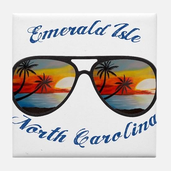 North Carolina - Emerald Isle Tile Coaster