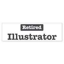 Retired Illustrator Bumper Car Sticker