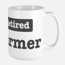 Retired Farmer Large Mug